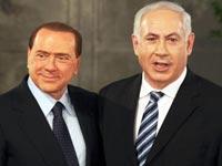 בנימין נמניהו   סילביו ברלוסקוני, ראש ממשלת איטליה / צלם : רויטרס